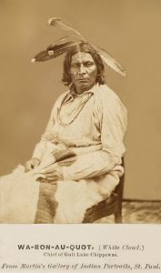 White-Cloud-aka-Wa-Bon-Au-Quot-Gull-Lake-Chippewa-Chief-c1860